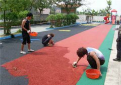 建始塑胶跑道施工